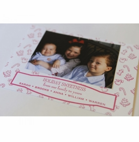 pink sweetness holiday card