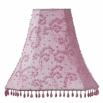 pink urn lamp-starburst shade