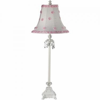 pink/white large petal flower lamp shade