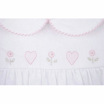 pique bubble with hearts embroidery