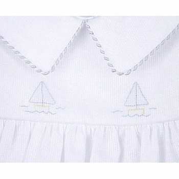 pique bubble with sailboat embroidery