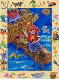 pirate adventure wall art