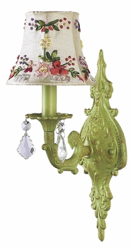 pistachio 1-arm scroll wall sconce