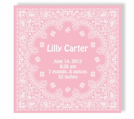pixie rose canvas birth announcement