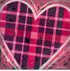 plaid heart wall art - unavailable