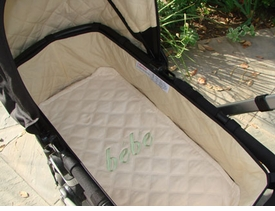 plain mary stroller bassinet mat