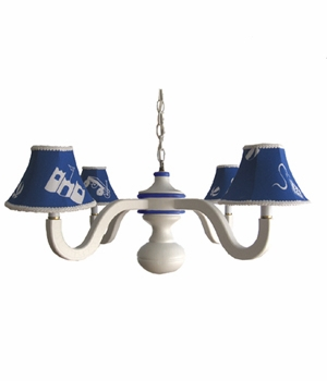 playthings blue spindle chandelier