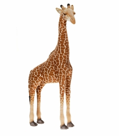 plush ride on giraffe - 44 inches