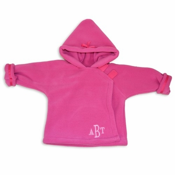 polartec fleece hooded jacket - dark pink by widgeon