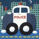 police cruiser wall art
