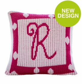 polka dot border pillow