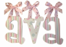 polka dots and stripes wall letters