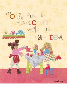 polly put the kettle on! wall art