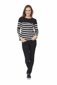 ponte shirt with zippered sleeves