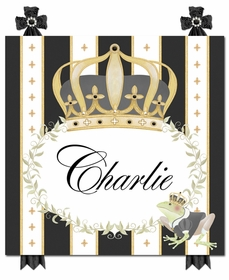 posh prince crown antico black personalized name plaques
