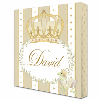posh prince crown ivory bisque personalized name plaques