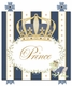 posh prince crown royal blue personalized name plaques