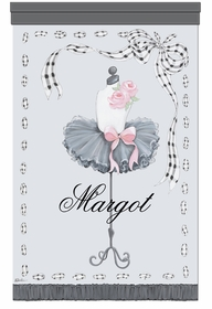 posh socialite pettiskirt silver elegance personalized wall hanging