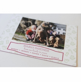 preppy cookies holiday card
