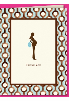pretty and pregnant blue thank you - SOLD OUT