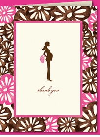 pretty and pregnant floral thank you (set of 10)