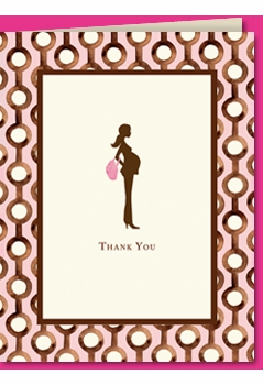 pretty and pregnant pink thank you (set of 10)