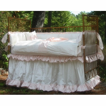 pretty baby crib bedding (custom colors available)