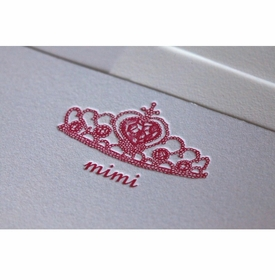 princess crown baby stationery