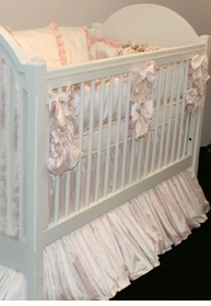 provence silk crib bedding by lulla smith