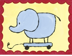 pull along elephant - wall art