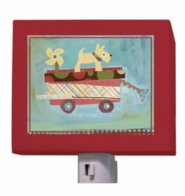 pup on a wagon nightlight