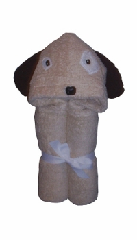 puppy dog hooded towel