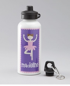 purple ballerina water bottle