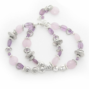 purple haze custom mother's bracelet