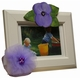 purple tulle & rose picture frame