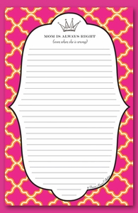 queen mom note pad  - SOLD OUT