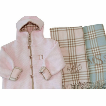 quilted cotton hoodie with plaid lining