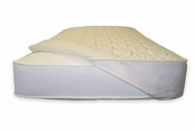 quilted mattress topper - crib fitted