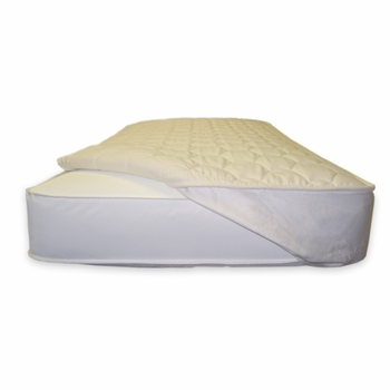 quilted mattress topper -  w/straps