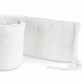 quilted white crib bumper