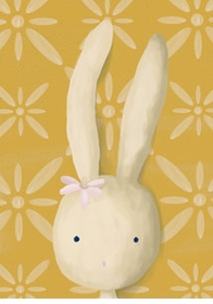 rae the bunny wall art canvas reproduction