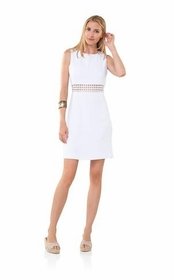ready and open back dress - white