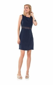 ready and revealing open back dress - navy