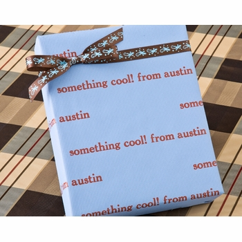 recycled personalized gift wrap - biloxy blue (unavailable)