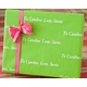 recycled personalized gift wrap - la lime
