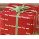 recycled personalized gift wrap - reno red