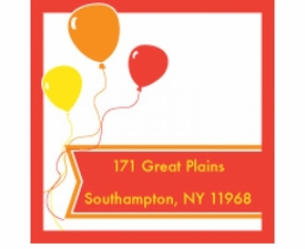 red balloon gift stickers