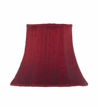 red chandelier shade