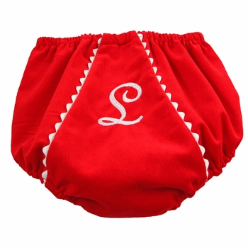 red corduroy diaper cover