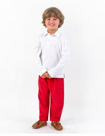 red corduroy pant